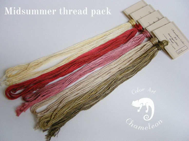 5 PCS Pure Cotton THREAD PACK Midsummer - 6 metres/6.5 yards each by ChameleonColorArt on Etsy