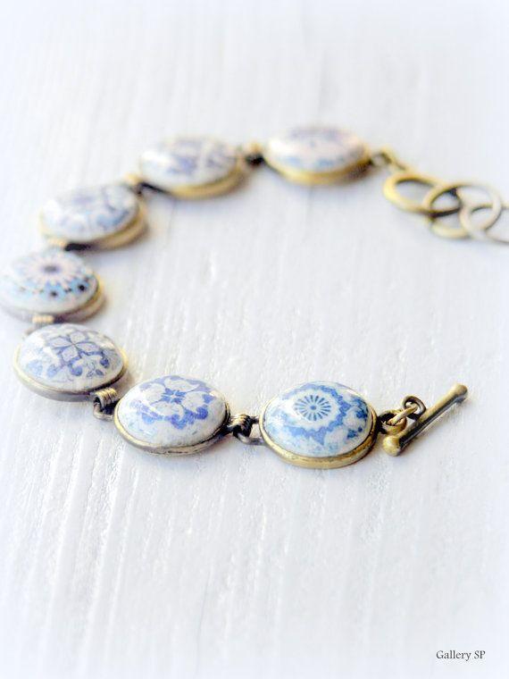 Links bracelet blue  collection Portuguese tiles  by GallerySP