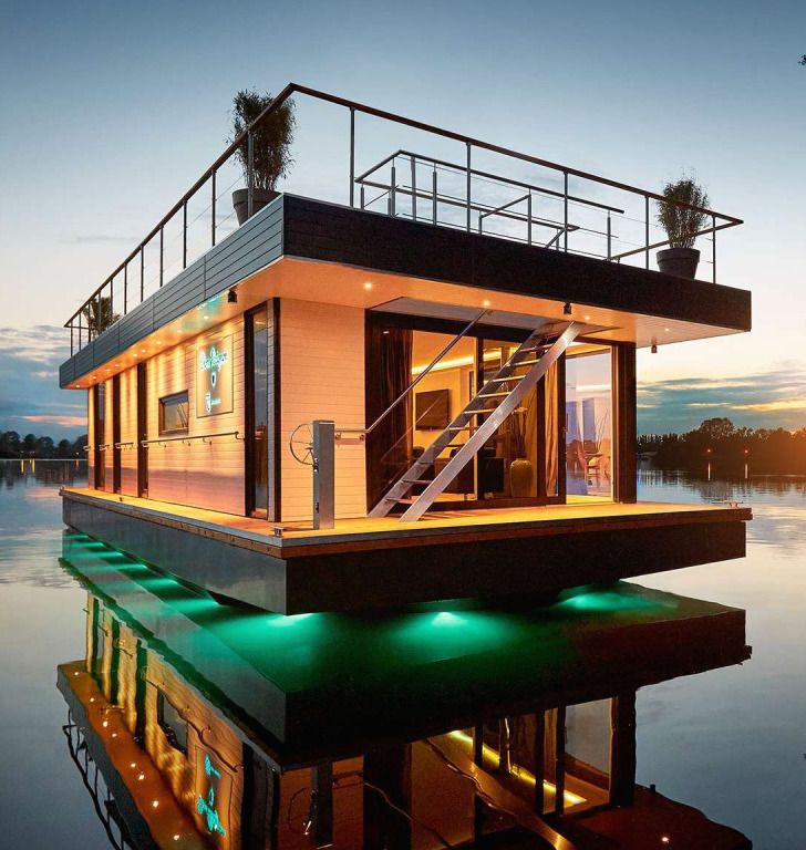 798 besten floating home offshore maison houseboat bilder auf pinterest hausboote wasser und. Black Bedroom Furniture Sets. Home Design Ideas