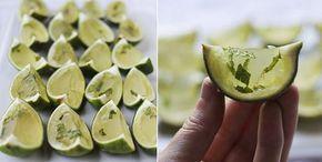 Cocktail Mojito Jello avec Thermomix, recette des mini cocktails gélatineux rafraîchissant aux saveurs de la menthe et citron vert.
