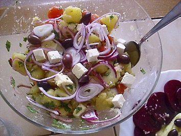 Griechischer Kartoffelsalat - Rezept