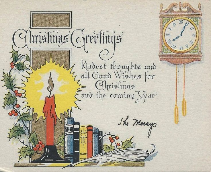388 best Old Christmas Post Cards images on Pinterest | Christmas ...