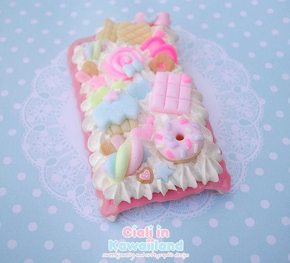 Kawaii decoden phone case whipped cream effect case cute