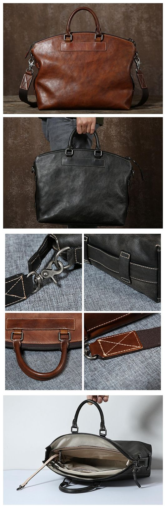 Top Grain Leather Briefcase for Men, Leather Business Bag GLT024