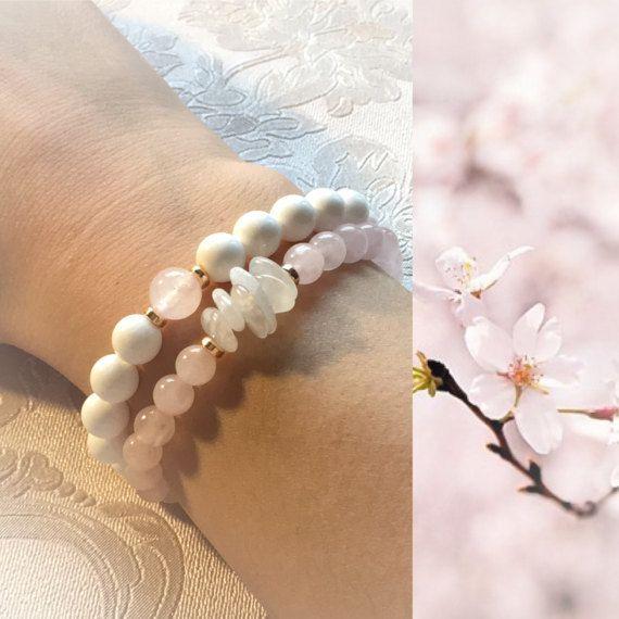 Браслет из натуральных камней Нежно розовый браслет от AndrePetro