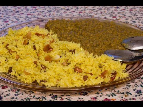 Riso persiano con anacardi, uvetta e lenticchie dal [Cucina etnica] - YouTube
