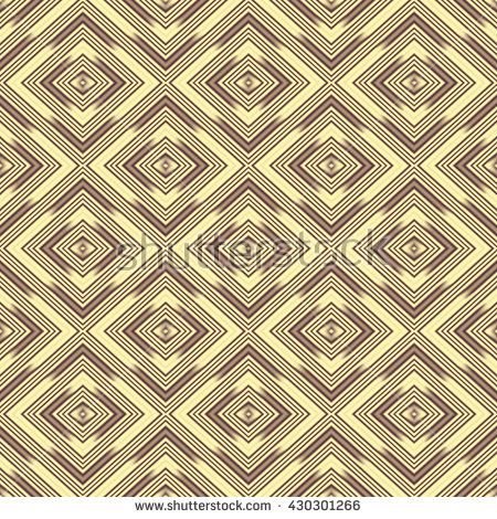 Seamless wall-paper rhombuses, sand-brown. A geometrical pattern with bright drawing, a background, a basis for design. A print of broad application for the press and a design web.