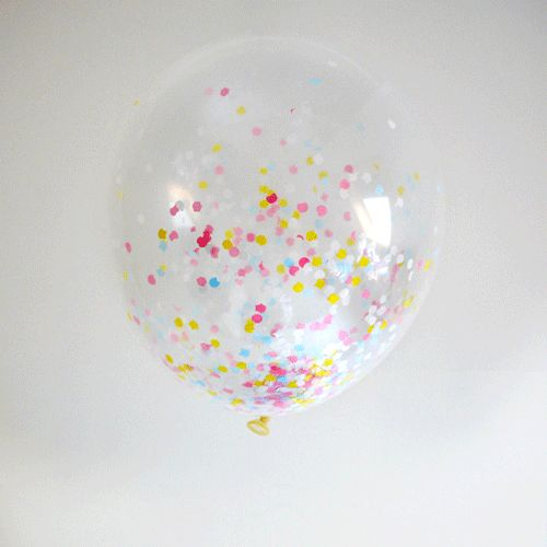 transparante ballonnen gevuld met confetti