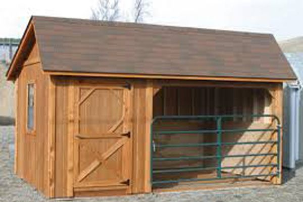 Small Horse Barn With Tack Room Built And Delivered In Montana In 2020 Horse Barn Plans Run In Shed Horse Barn