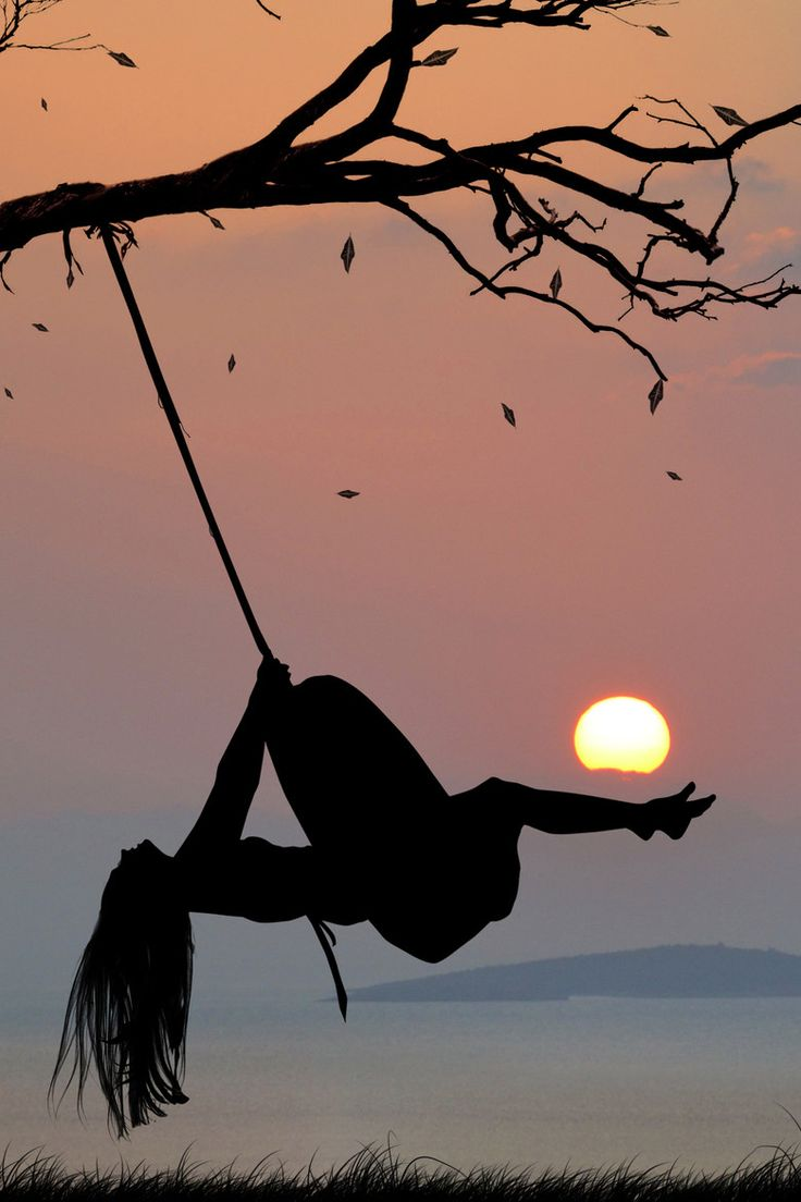When I was a kid, I loved the tire swing in our yard, so I recently tried swinging on one...