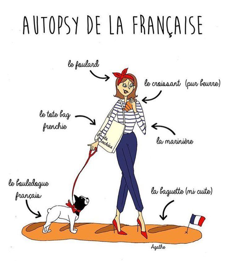 La femme française de @agatheillustrations  Et vous vous la voyez comment la française ? #agatheillustrations #française #femmes #women #french #Paris #France #learnfrench #apprendrelefrançais