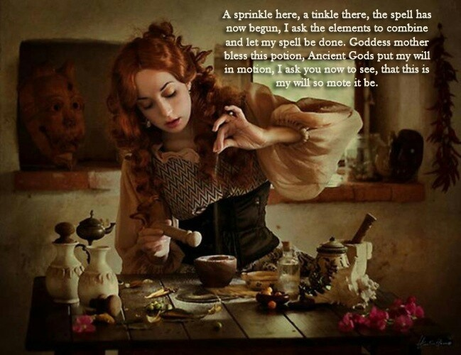 From Wicca Teachigs - potion making chant