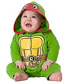 Teenage Mutant Ninja Turtles Raphael Baby Costume - our fierce little crawler will show off his skills in the Officially Licensed Teenage Mutant Ninja Turtles Raphael Baby Costume.