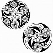 Spiral celtic designs from the Book of Durrow