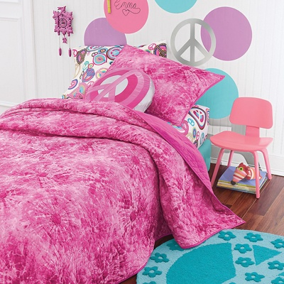 Tie Dye Bedding With Peace Sign Sheets