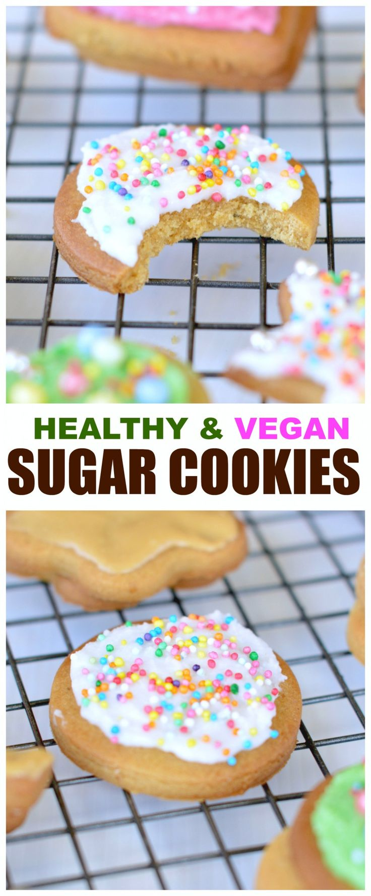 Nothing is better than those Healthy Sugar Cookies, Dairy Free, Egg free, No refined sugar with no chill required and easy edge cutting! AND made with healthy nourishing spelt flour!