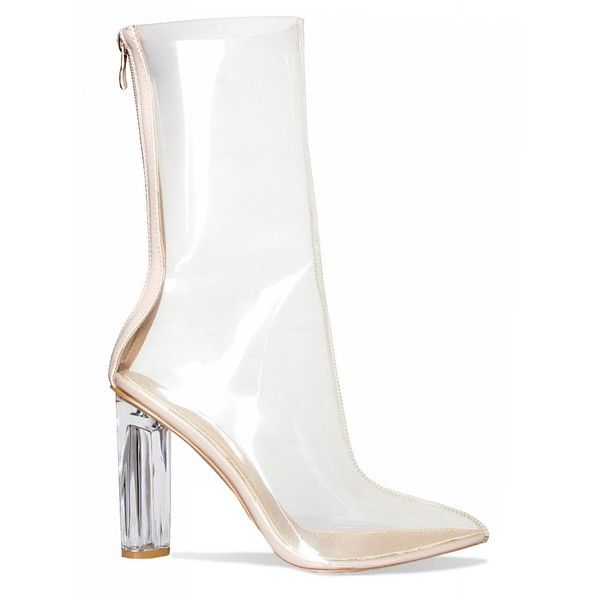Noelle Clear Perspex Pointed Ankle Boots : Simmi Shoes - Love Your... ($53) ❤ liked on Polyvore featuring shoes, boots, ankle booties, pointed booties, pointed toe bootie, pointed-toe ankle boots, pointy-toe ankle boots and pointy booties