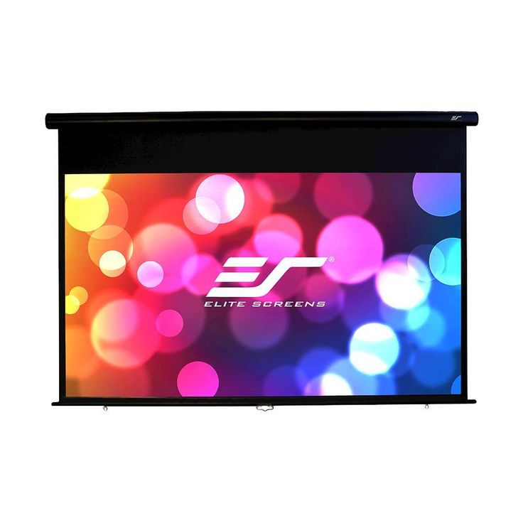 "Elite Screens - Yard Master Manual Series 100"" Outdoor Projector Screen - Black, OMS100HM"