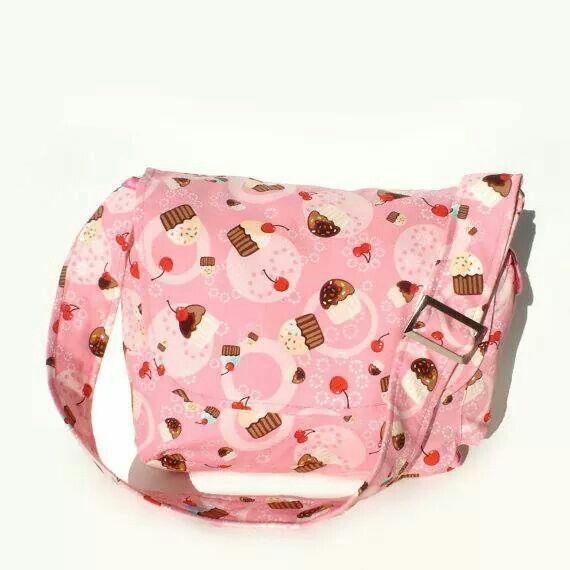 Cupcakes and Cherries Messenger Bag - Plus Size - Curvy Fashion - Bold - Unique - Renegade