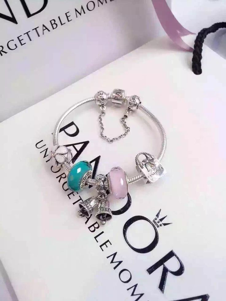 f89a41cd8 Hot Sale 179 Pandora Charm Bracelet Pink Green White Christmas Bells.