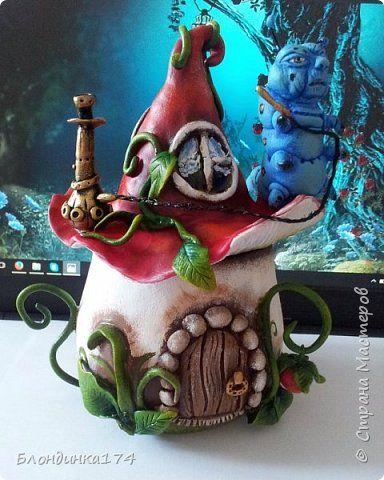 Поделка изделие Лепка Папье-маше Сказочные шкатулки Бумага Глина Клей Краска фото 3