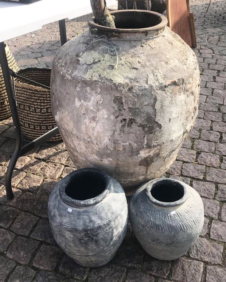 Rustikke krukker & vaser i 2020 Krukker, Vase, Rustikt