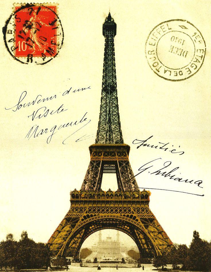 открытки парижа старые руках картину