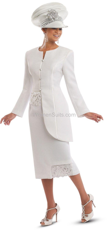 Innovative White Women Church Suits