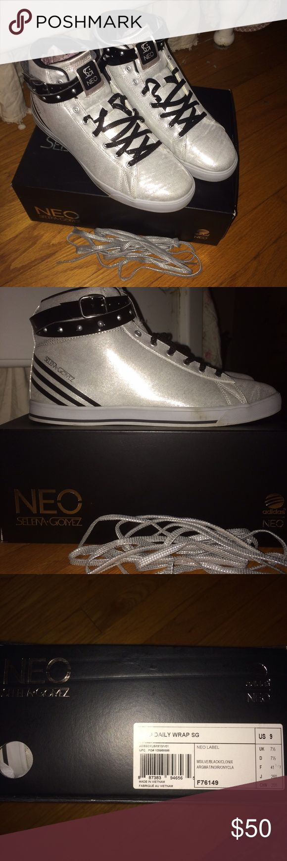 Adidas Neo high tops by Selena Gomez Size 9 Adidas Shoes Sneakers