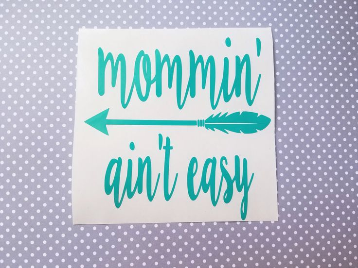 Mommin ain't easy decal | Mama decal | Mom decal | Country mom | coffee cup decal | car decal | iPhone decal | Yeti decal | laptop decal by SWVDesignCo on Etsy