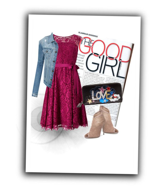 """Good girl"" by lula-kruta ❤ liked on Polyvore featuring Precis Petite, LE3NO, Dolce&Gabbana and Yves Saint Laurent"