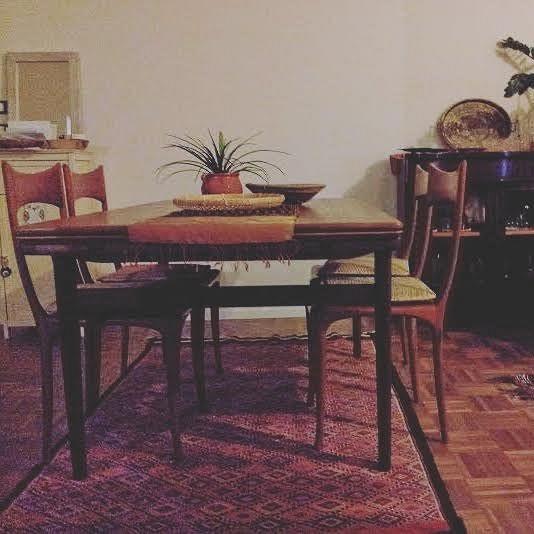 Palermo. Tavolo da pranzo danese allungabile 160 cm->270 cm.