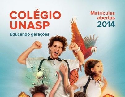 "Check out new work on my @Behance portfolio: ""Campanha de Matrículas de 2014 - Colégio Unasp"" http://on.be.net/IQg1UX"