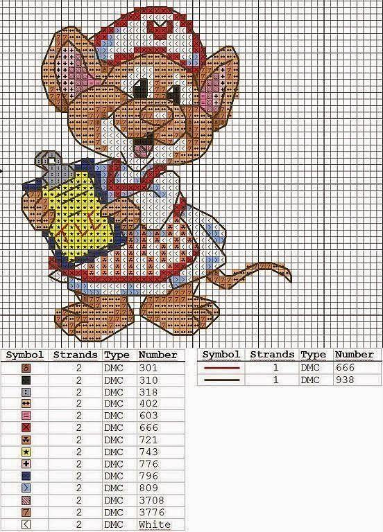 Cross-stitch Nurse Mouse...    bem vindos deixem seus comentários - Dinha Ponto Cruz -