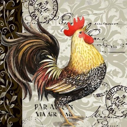 French Rooster - 1   by Elena Vladykina