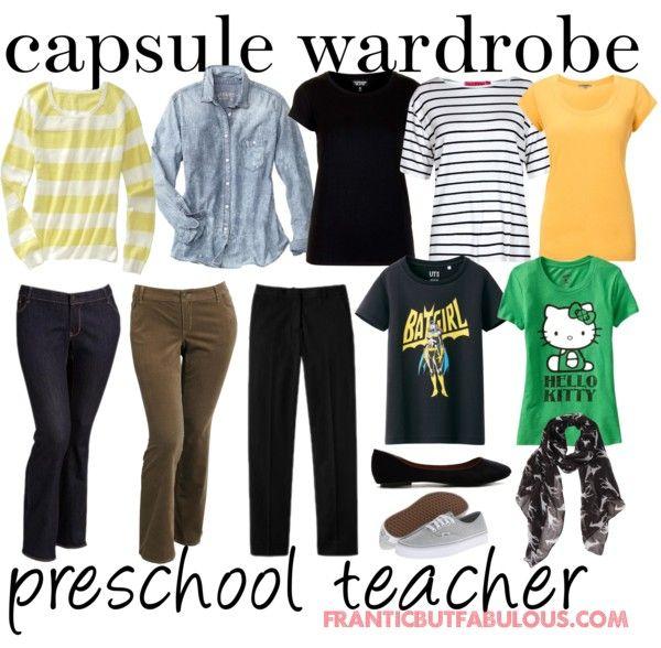 capsule wardrobe: preschool teacher
