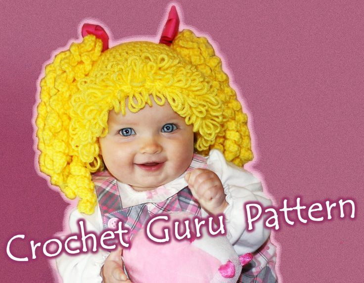 Free Crochet Baby Wig Hat Pattern : Cabbage Patch Wig Pattern-Free Crochet Cabbage Patch Kid ...