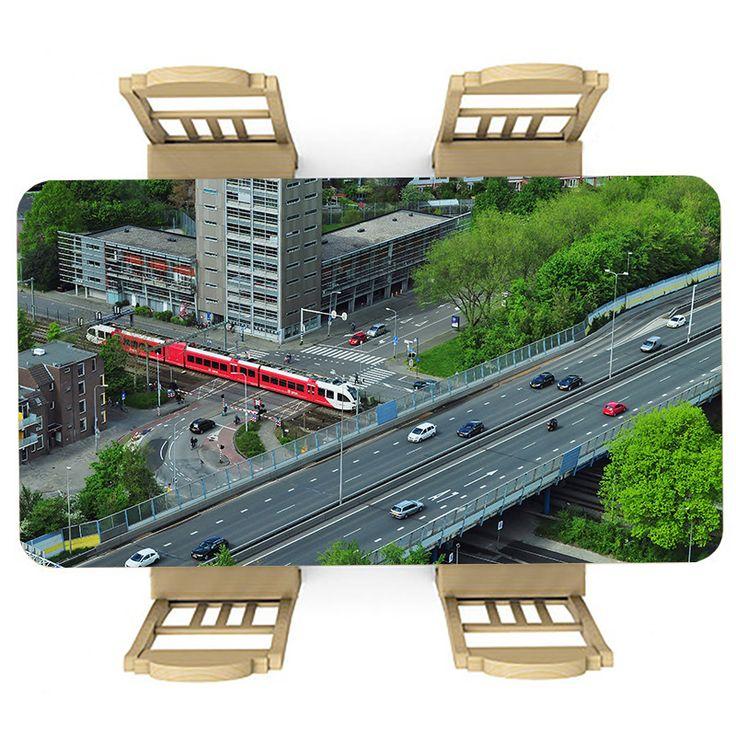 Tafelsticker Infrastructuur | Maak je tafel persoonlijk met een fraaie sticker. De stickers zijn zowel mat als glanzend verkrijgbaar. Geschikt voor binnen EN buiten! #tafel #sticker #tafelsticker #uniek #persoonlijk #interieur #huisdecoratie #diy #persoonlijk #trein #auto #verkeer #weg #wegen #infrastructuur #arriva #stad #nederland