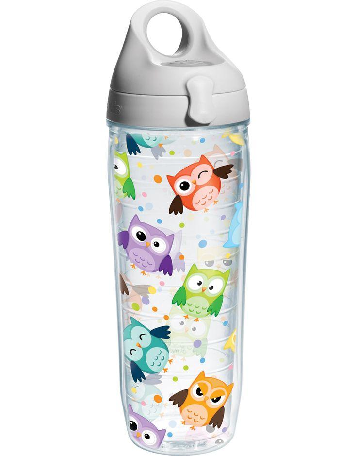 Owls - water bottle wrap ~ botella de agua ~ búhos