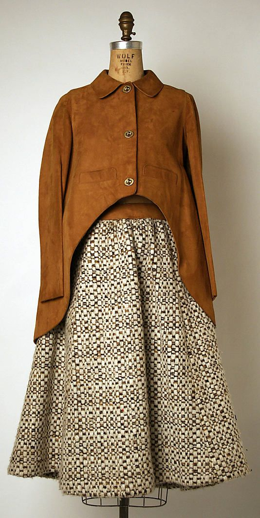 Bonnie Cashin suit in wool and leather. Fall/Winter 1970-1971. Gift of Helen and Phillip Sills Collection of Bonnie Cashin Clothes, 1979. The Metropolitan Museum of Art online collection.