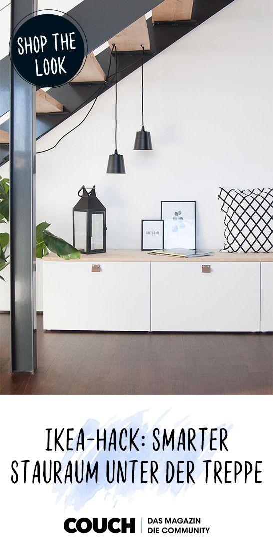 Ikea-Hack #1: Smarter Stauraum unter der Treppe