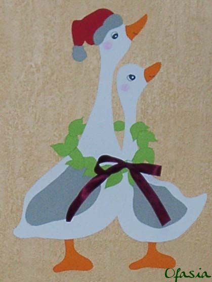 Des oies de Noël, en papier. http://www.pinterest.com/katiab57/boards/