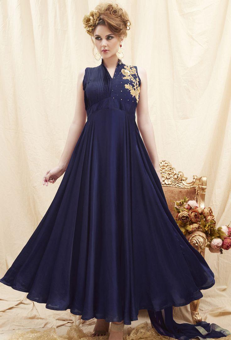 #Blue #Tapeta #Silk #Shalwar #Kameez #nikvik  #usa #designer #australia #canada #freeshipping #ceremonial #pakistani