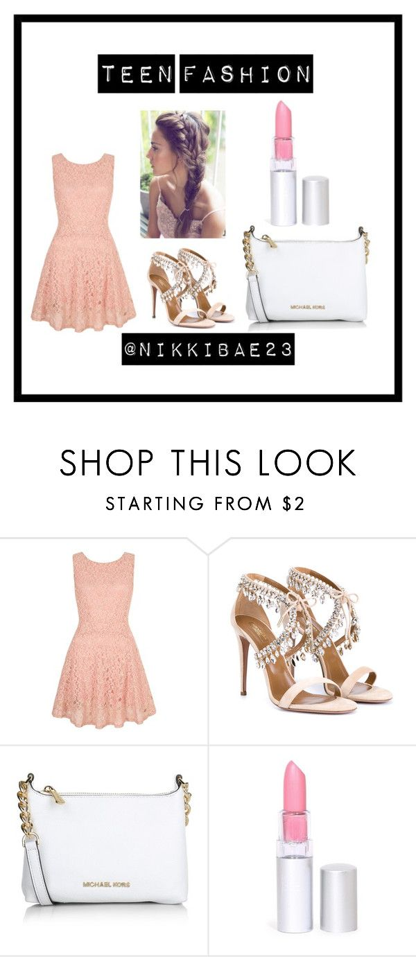 """""""new teen fashion"""" by nikkibae23 on Polyvore featuring Yumi, Aquazzura, Michael Kors, women's clothing, women, female, woman, misses and juniors"""