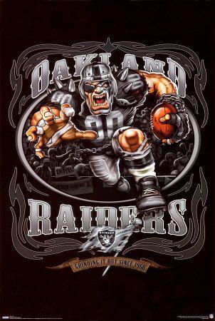 Oakland Raiders Mascot Poster
