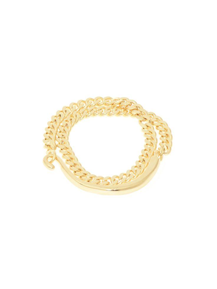 Hook, Line & Chain bracelet - Gold