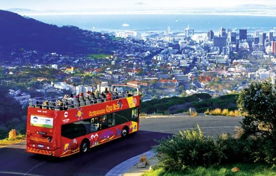 Cape Town sight seeing bus.