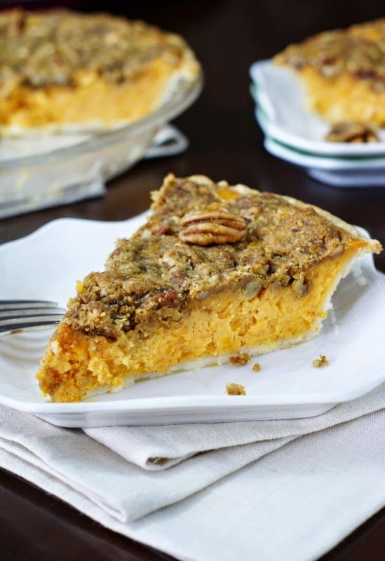 Sister Schuberts Sweet Potato Pie - nothing says the holidays in the South like delicious pecan-topped sweet potatoes.  And this recipe from Sister Schubert is the best.   www.thekitchenismyplayground.com  #SisterSchubertsHoliday ad