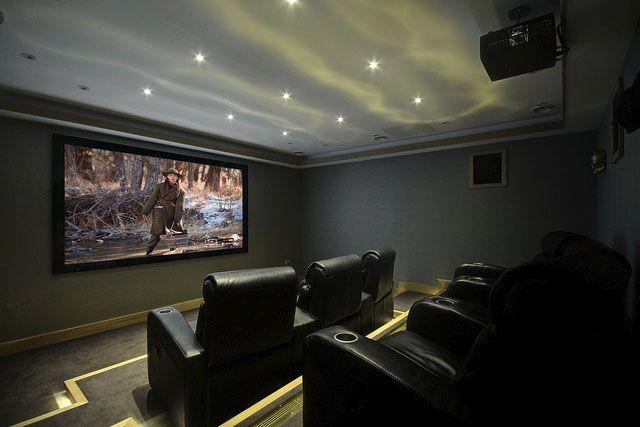 9 melhores imagens de cinema em casa no pinterest - Sala cinema in casa ...