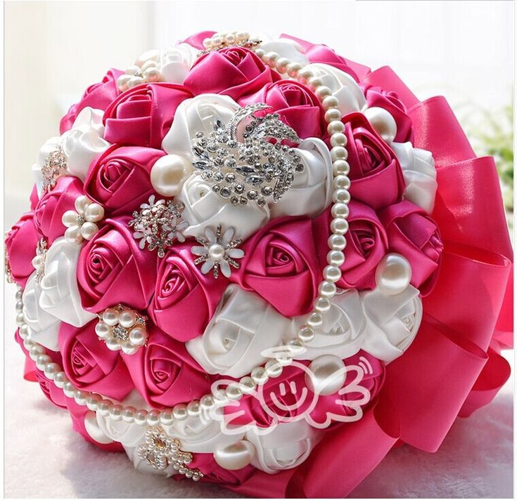 Luxury Crystal Pearl Bride Flowers Wedding Bouquet De Noiva 26 cm Champagne Big Hand Made Flower Pure Beautiful Bridal Bouquets